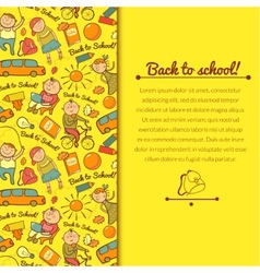 cheerful background with children vector image
