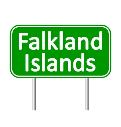 Falkland Islands road sign vector image vector image