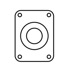 Hard disk drive isolated icon design vector