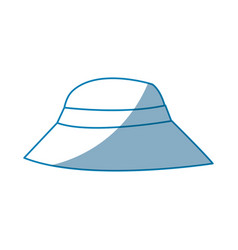 hat man protection sun vacations vector image