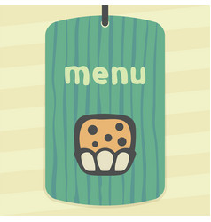 outline sweet muffin food icon modern infographic vector image