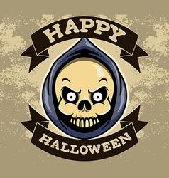 Reaper Head Halloween Badge vector image vector image