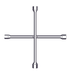 Wheel wrench monochrome vector