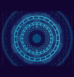 abstract light circle vector image