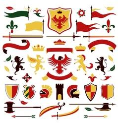 Heraldic set colored vector image
