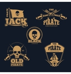 Retro piratical color logo labels and badges vector image