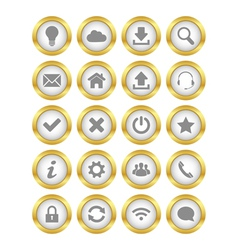 Web gold buttons vector image vector image