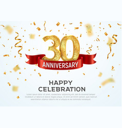 30 years anniversary banner template vector