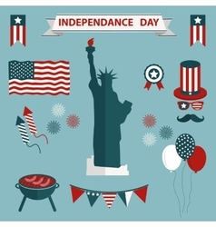4th july independence day united states vector