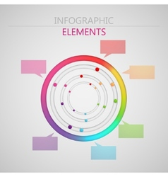 Abstract 3d paper infographic elements for print vector