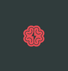 Abstract brain logo design template brainstorm vector