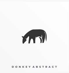 abstract donkey template vector image