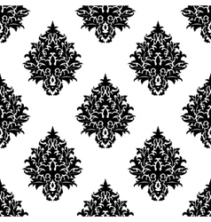 Abstract seamless flourish pattern in damask style vector
