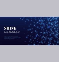 Abstract shine background blue glitter vector