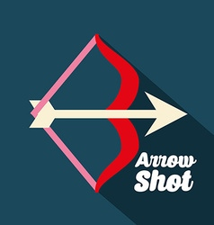 arrow shot design vector image