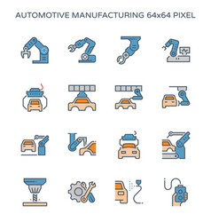 automotive manufacturing icon vector image