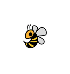 bee flying tingling bees logo design icon vector image