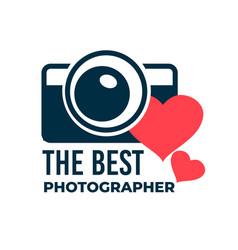 best photographer photo studio logotype or award vector image