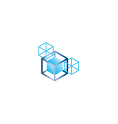 blockchain logo template vector image