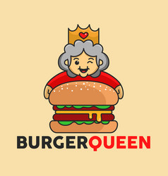 Burger big queen good for restaurant logo and vector