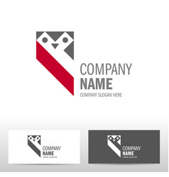 business logo design with owl vector image