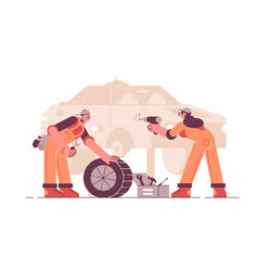Car service station vector