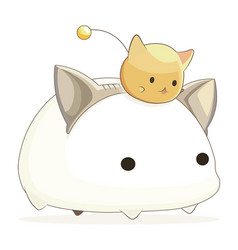 Cat kawaii 2 vector