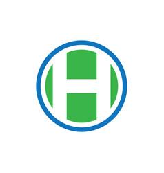 circle h business finance logo image vector image