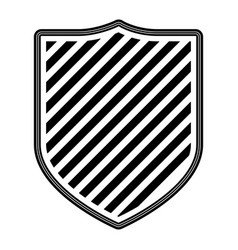 coat of arms with striped in monochrome silhouette vector image