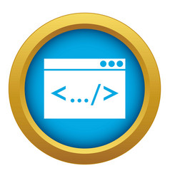 Code window icon blue isolated vector