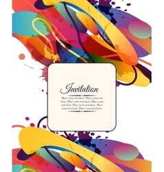 Colorful decorative invitation card with free vector image