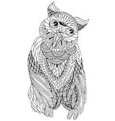 coloring owl decorative elements vector image