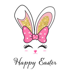 easter mask with rabbit ears vector image