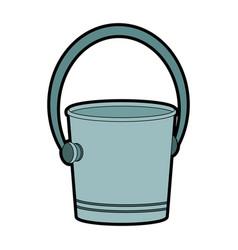 empty ice bucket vector image