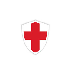 England flag emblem template design vector