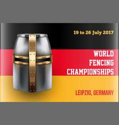 fencing event poster vector image
