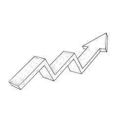 Financial trend up rising indication arrow vector