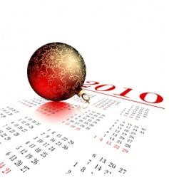 fir ball on calendar vector image