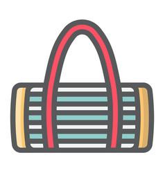 Fitness bag filled outline icon fitness vector