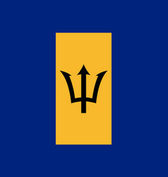 Flag barbados flat icon vector