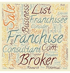 Franchise Business Opportunities What Is The Role vector