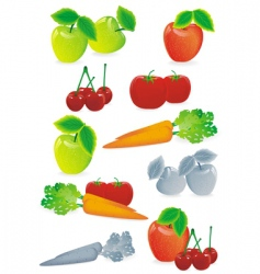 Fruit mix vector