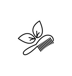hairbrush isolated black on white vector image
