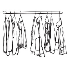 Hand drawn with fashionable clothes vector