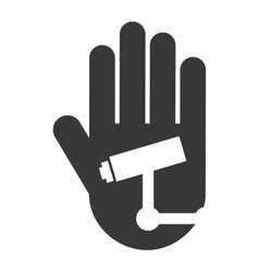 hand human stop video camera silhouette vector image