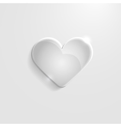 Heart gray glass icon vector image