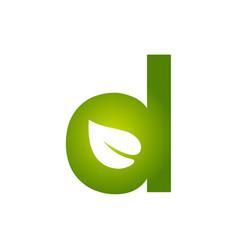 Initial d for leaf logo vector