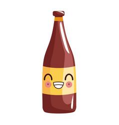 Kawaii funny drink bottle celebration icon vector