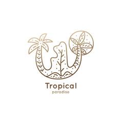 logo tropics vector image