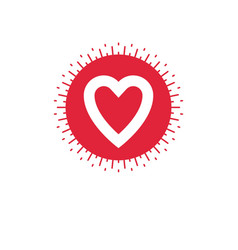 Love heart icon isolated on white vector